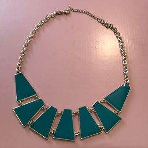 Teal & Gold Statement Necklace